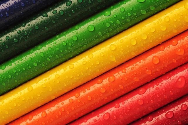 mokré pastelky